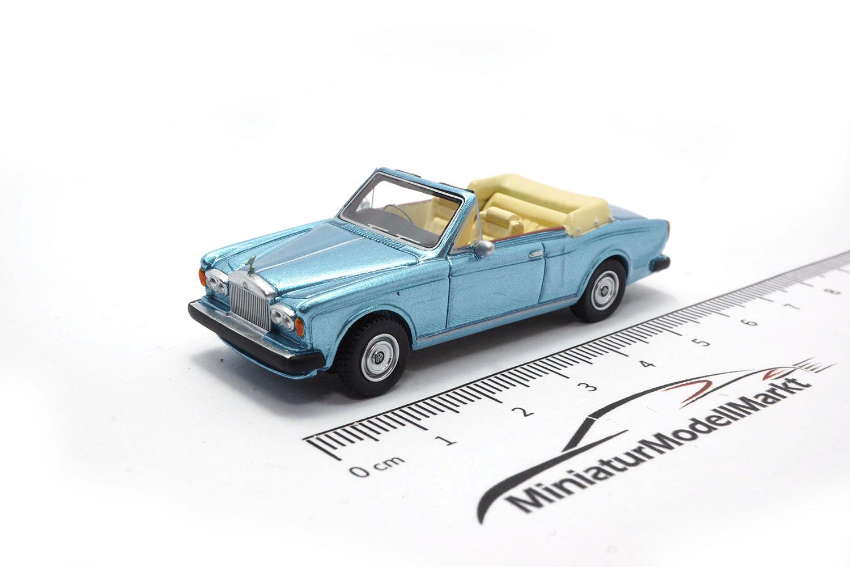 hellblau #87210 BoS-Models Rolls Royce Corniche Convertible 1974-1:87