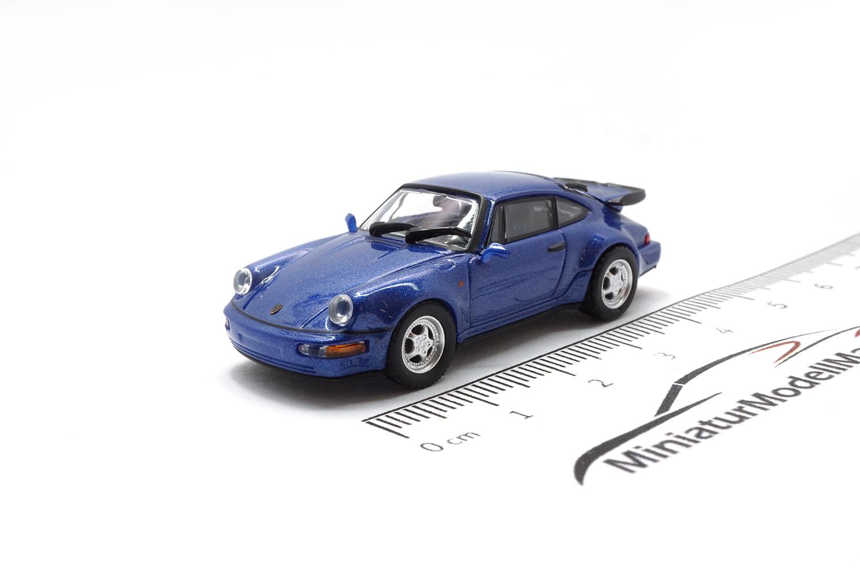 Minichamps Porsche 911 Turbo #870069104 Schwarz 1990-1:87