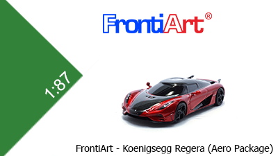 Koenigsegg Regera (Aero Package) - Candy Apple Red - 1:87