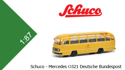 Mercedes O321 Bus Deutsche Bundespost (Schuco)