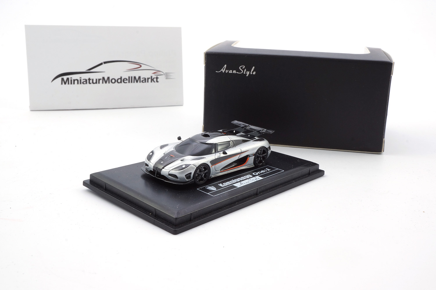 FrontiArt H0-02 Koenigsegg One:1 - Silver 1:87