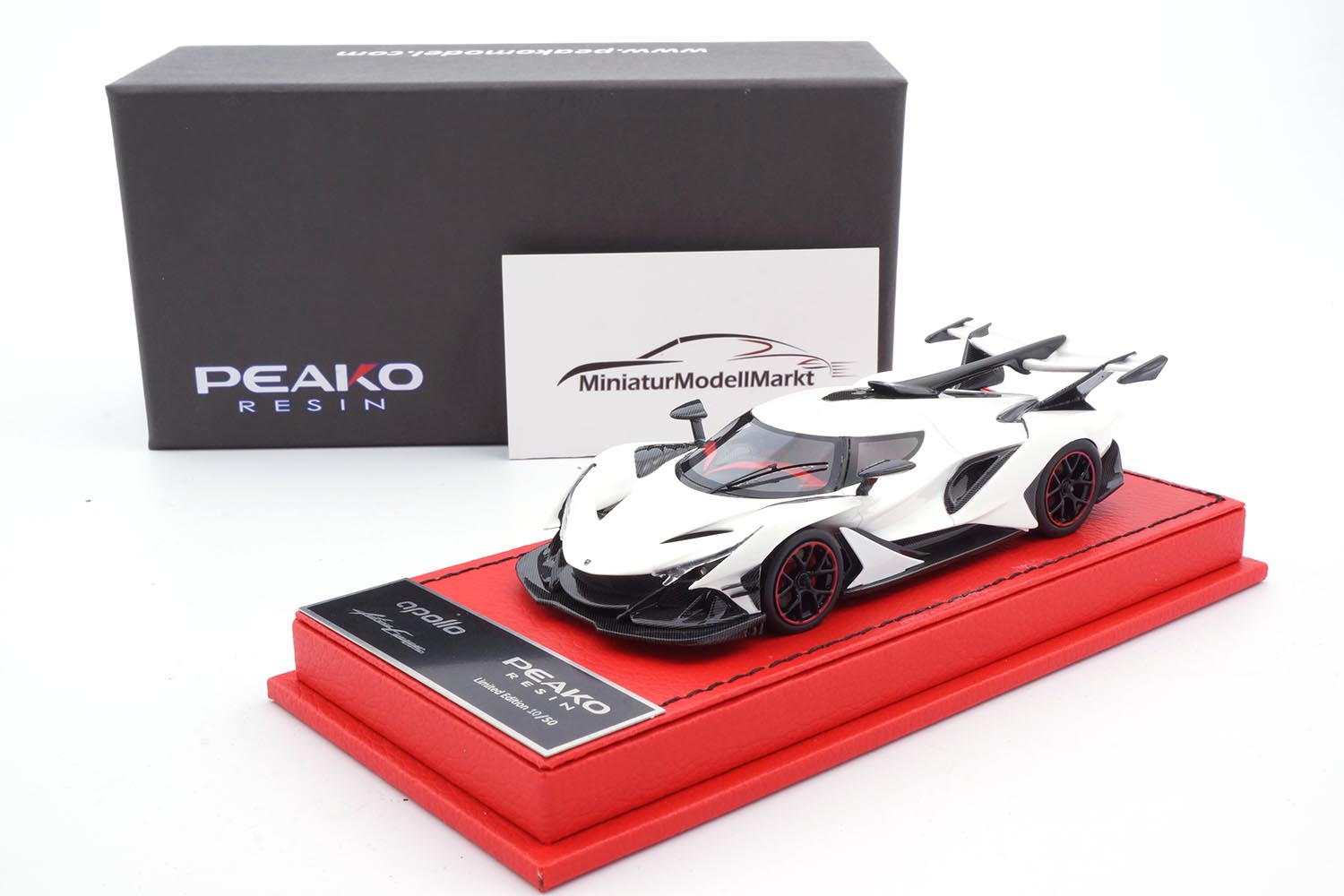 Peako 32901 Apollo Automobil Apollo IE - White 1:43