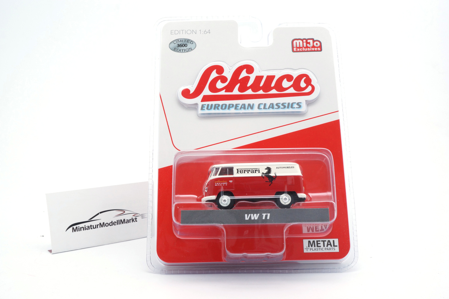 Schuco 452024700 VW T1 - Ferrari Francorchamps (USA Exclusive) 1:64