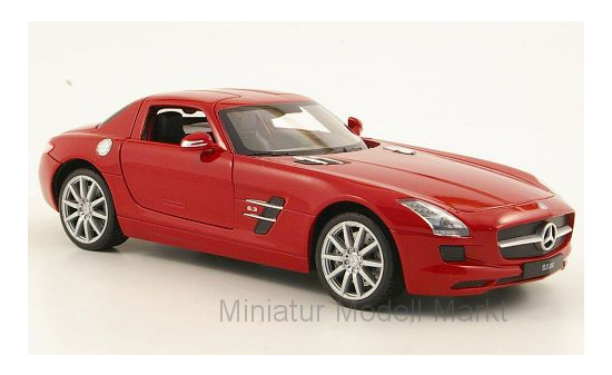 Welly 24025RED Mercedes SLS AMG (C197), rot 1:24