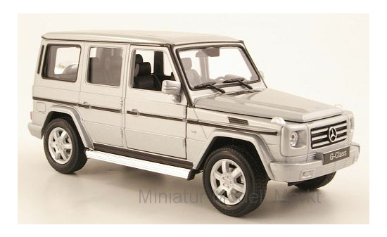 Welly 24012SILVER Mercedes G-Klasse, silber 1:24