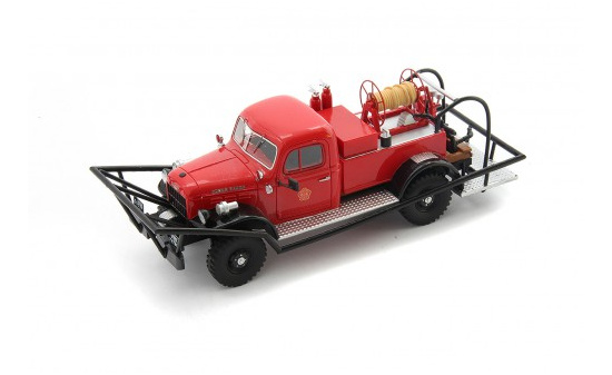 Autocult 12009 Dodge WDX Power Wagon Brush Breaker, rot-schwarz 1:43