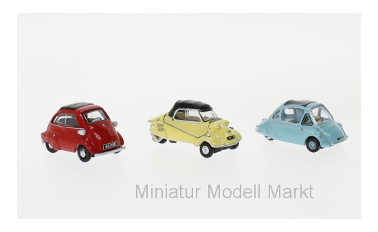 Oxford 76SET62 Set 3er-Set:  Bubble Car, Messerschmitt Kabinenroller, Heinkel Trojan, BMW Isetta 1:76