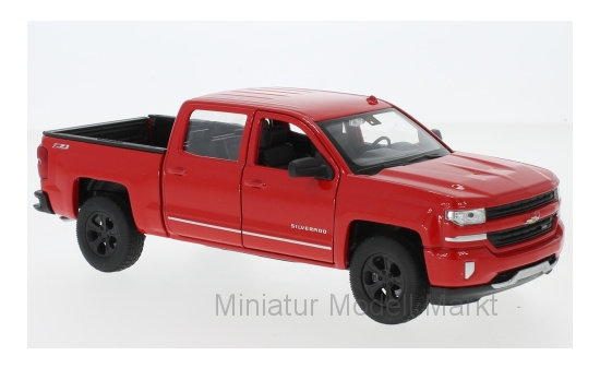Welly 24083RED Chevrolet Silverado, rot, 2017 1:24