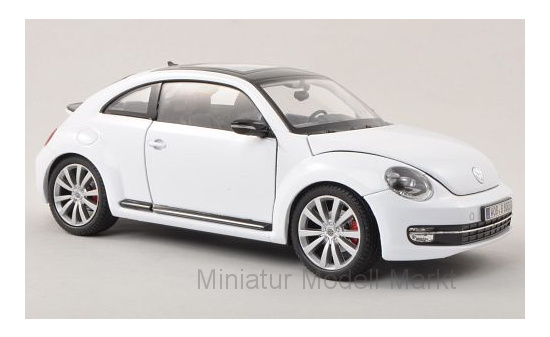 Welly 24032white VW Beetle, weiss, ohne Vitrine, 2012 1:24