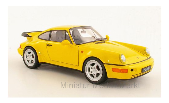 Welly 18026yellow Porsche 911 Turbo (964), gelb 1:18
