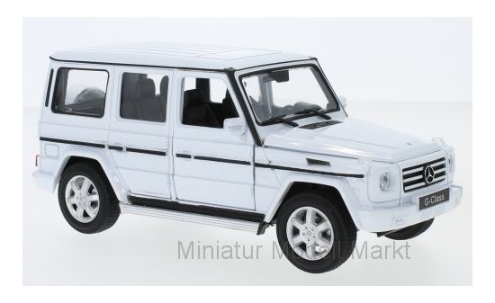Welly 24012WHITE Mercedes G-Klasse, weiss 1:24