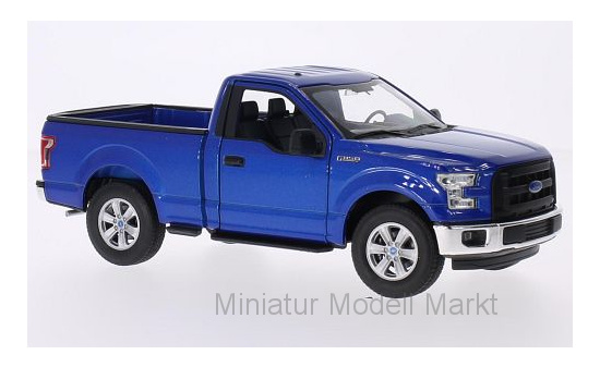 Welly 24063MET-BLUE Ford F-150, metallic-blau, 2015 1:24