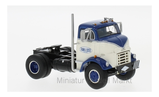 Neo 64116 GMC C 950 Cannonball Day Cab, dunkelblau/weiss, 1954 1:64