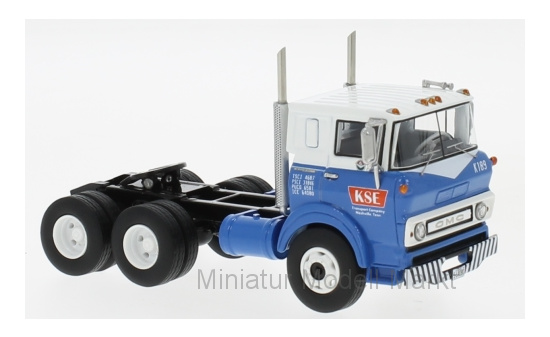 Neo 64080 GMC Steel Tilt Cab Sleeper, blau/weiss, 1964 1:64