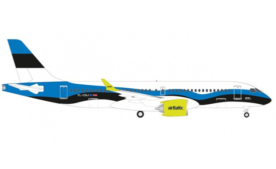 Herpa 533942 airBaltic Airbus A220-300