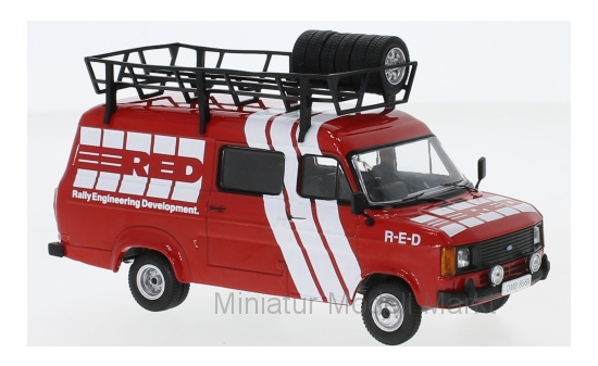 IXO RAC281X Ford Transit MKII, Rally Assistance R-E-D, 1985 1:43