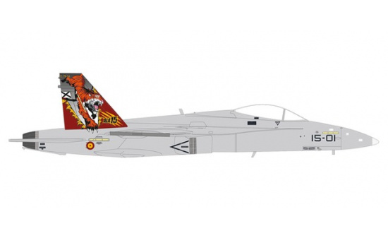 Herpa 580588 Spanish Air Force McDonnell Douglas EF-18A (F/A-18A) Hornet - Ala 15 (15th Wing), Zaragoza Air Base Tiger Meet - Vorbestellung 1:72