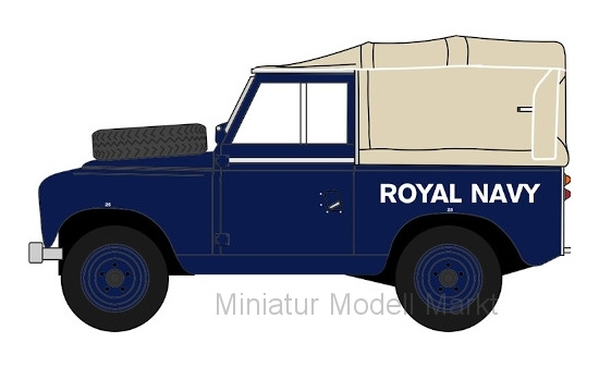 Oxford 43LR3S004 Land Rover Series III SWB Canvas, RHD, Royal Navy - Vorbestellung 1:43