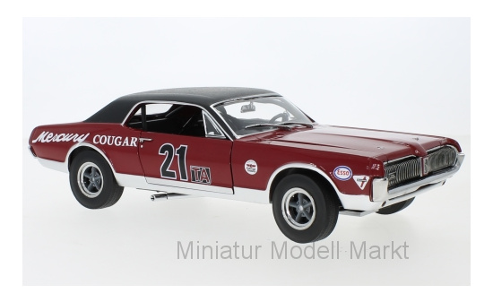 Sun Star 1583 Mercury Cougar Racing, No.21, SVRA, Watkins Glen Historic Enduro 200, M.Beaulieu, 1967 1:18