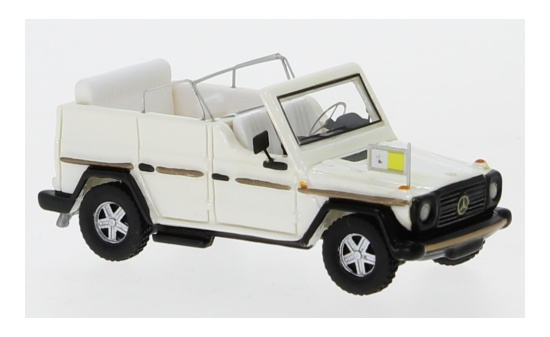 BoS-Models 87676 Mercedes 230 G Papamobil, metallic-weiss, 1980 1:87