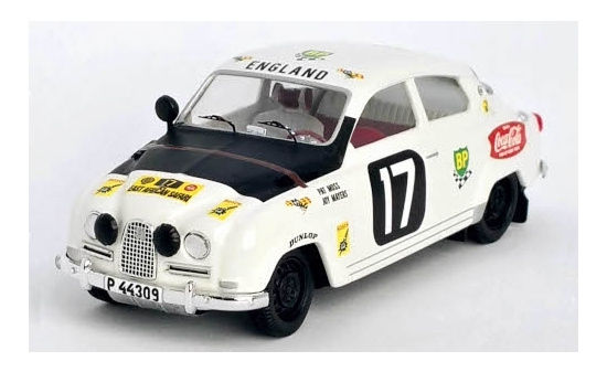 Trofeu RRKE03 Saab 96, No.17, East African Safari Rally, P.Moss-Carlsson/J.Mayers, 1964 1:43